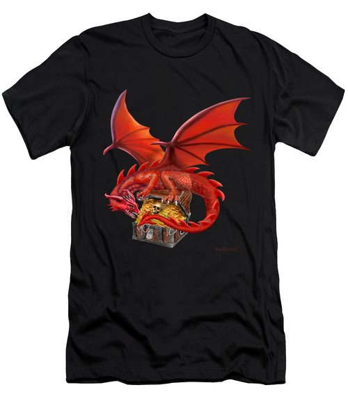 Red Dragon's Treasure Chest Men's T-Shirt (Slim Fit) by Glenn Holbrook