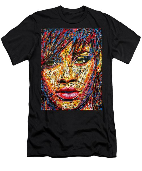 Rihanna Men's T-Shirt (Slim Fit) by Angie Wright