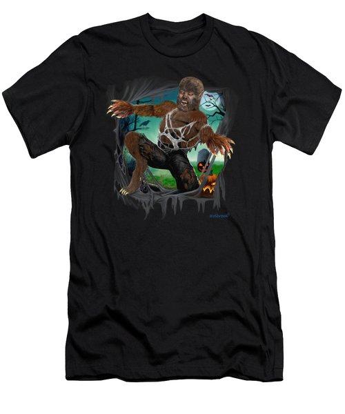 Rip Roaring Werewolf Men's T-Shirt (Slim Fit) by Glenn Holbrook