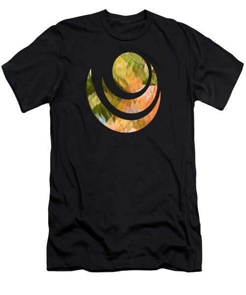 Salmon Mosaic Abstract Men's T-Shirt (Slim Fit) by Christina Rollo