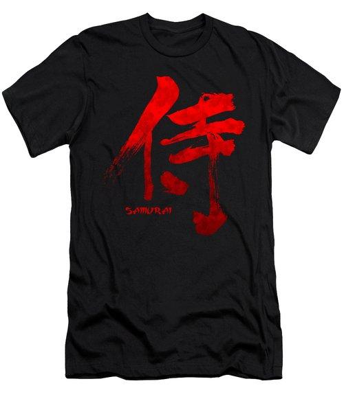 Samurai Kanji Symbol Men's T-Shirt (Slim Fit) by Illustratorial Pulse