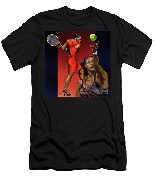Sensuality Under Extreme Power - Serena The Shape Of Things To Come Men's T-Shirt (Slim Fit) by Reggie Duffie