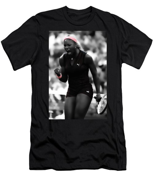 Serena Williams On Fire Men's T-Shirt (Slim Fit) by Brian Reaves