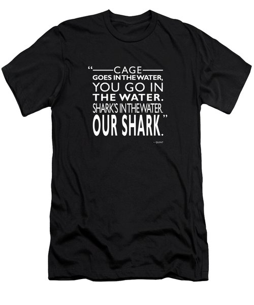 Sharks In The Water Men's T-Shirt (Slim Fit) by Mark Rogan