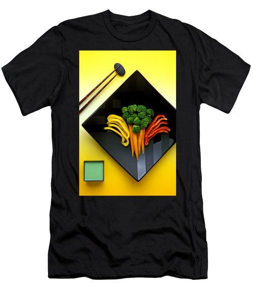 Square Plate Men's T-Shirt (Slim Fit) by Garry Gay