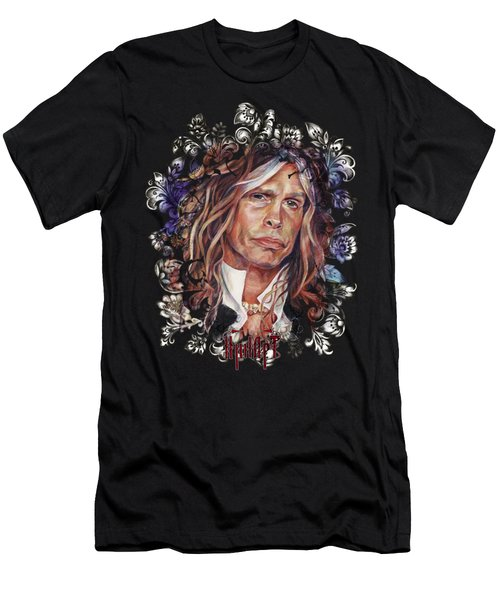 Steven Tyler Aerosmith Men's T-Shirt (Slim Fit) by Inna Volvak