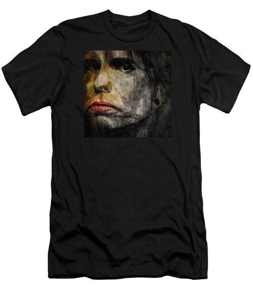Steven Tyler  Men's T-Shirt (Slim Fit) by Paul Lovering