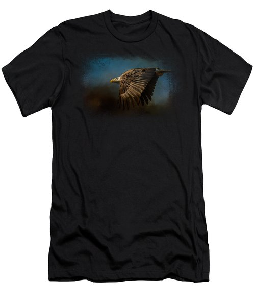 Storm Chaser - Bald Eagle Men's T-Shirt (Slim Fit) by Jai Johnson