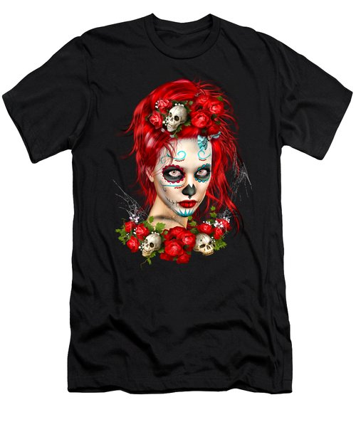 Sugar Doll Red Men's T-Shirt (Slim Fit) by Shanina Conway