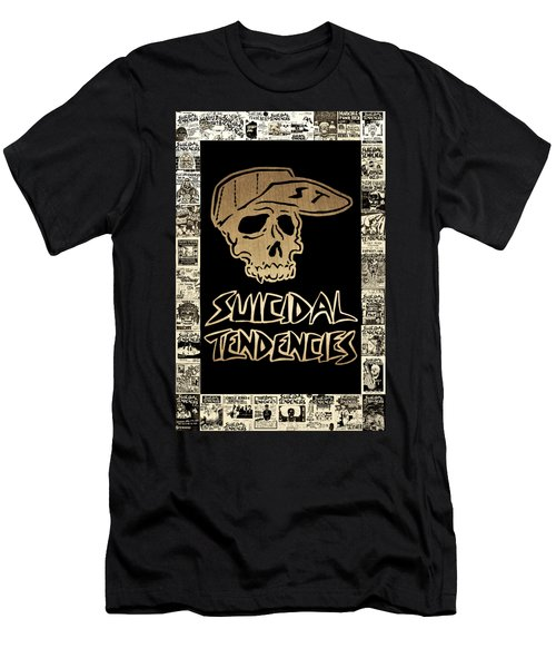 Suicidal Tendencies 2 Men's T-Shirt (Slim Fit) by Michael Bergman