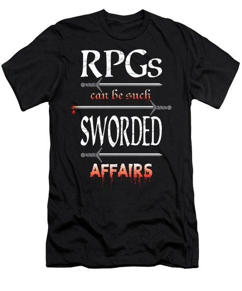 Sworded Affairs Men's T-Shirt (Slim Fit) by Jon Munson II