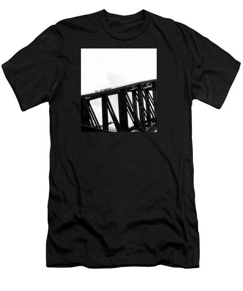 Sydney Harbour Bridge Men's T-Shirt (Slim Fit) by Sandy Taylor