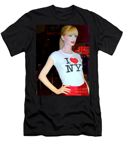 Taylor In Times Square Men's T-Shirt (Slim Fit) by Ed Weidman
