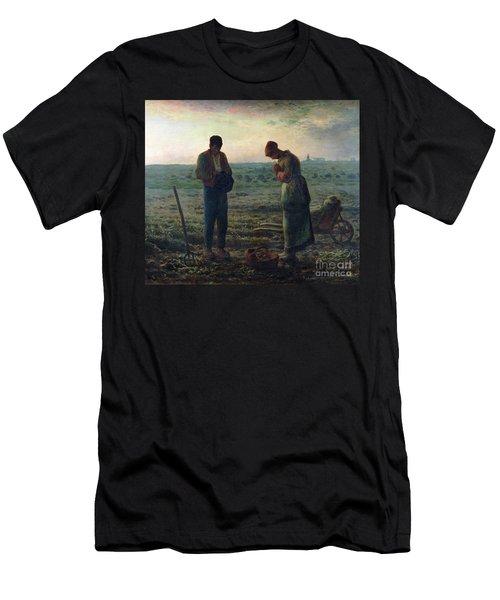 The Angelus Men's T-Shirt (Slim Fit) by Jean-Francois Millet