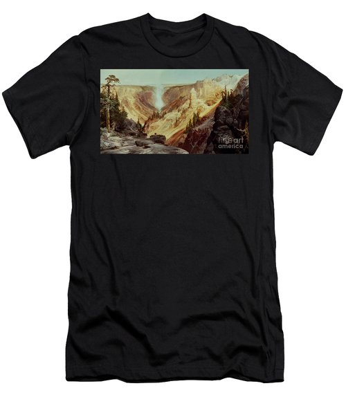 The Grand Canyon Of The Yellowstone Men's T-Shirt (Slim Fit) by Thomas Moran