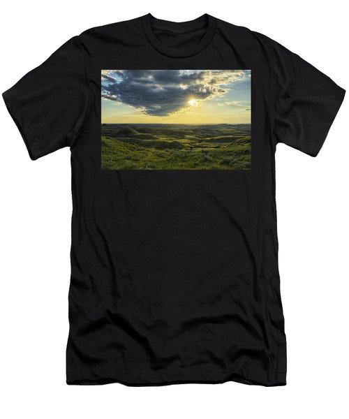 The Sun Shines Through A Cloud Men's T-Shirt (Slim Fit) by Robert Postma