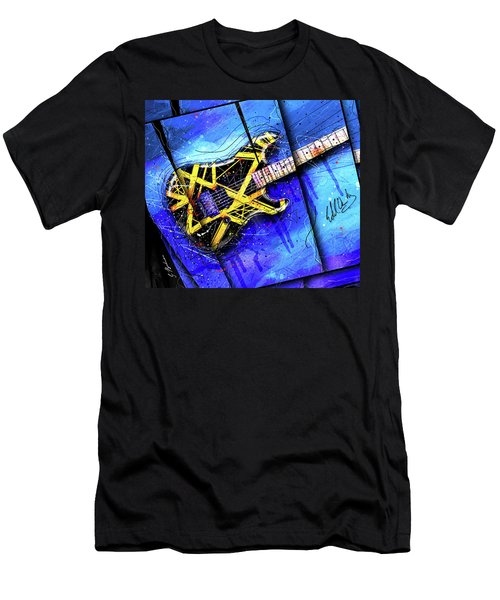 The Yellow Jacket_cropped Men's T-Shirt (Slim Fit) by Gary Bodnar