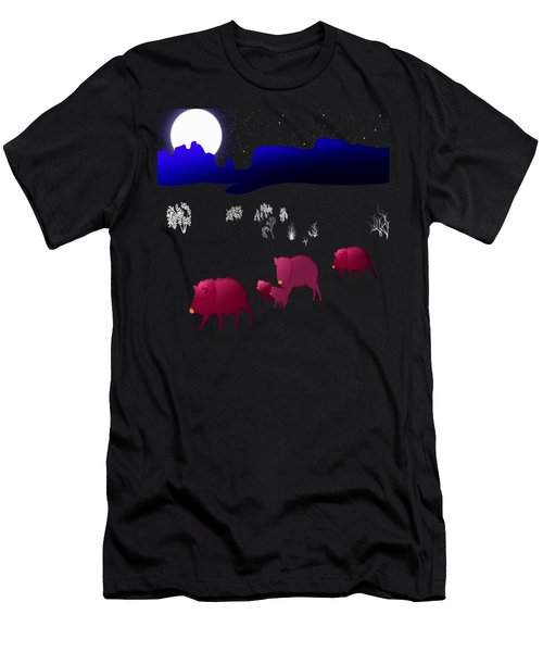 They Walk By Night Men's T-Shirt (Slim Fit) by Methune Hively