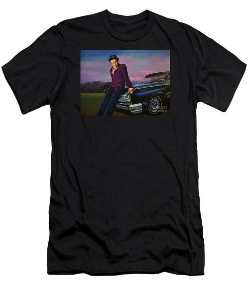 Tom Waits Men's T-Shirt (Slim Fit) by Paul Meijering