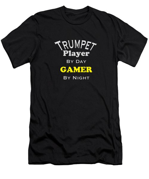 Trumpet Player By Day Gamer By Night 5629.02 Men's T-Shirt (Slim Fit) by M K  Miller