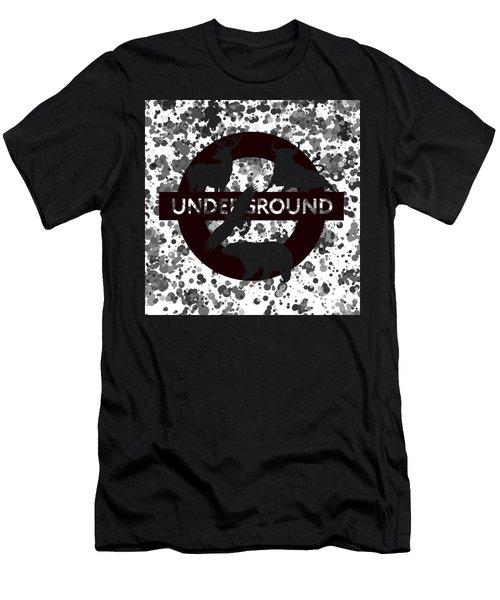 Underground 1 Men's T-Shirt (Slim Fit) by Alberto RuiZ