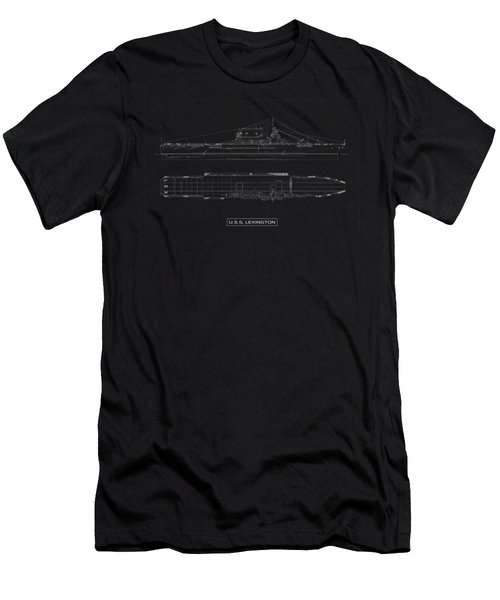 Uss Lexington Men's T-Shirt (Slim Fit) by DB Artist
