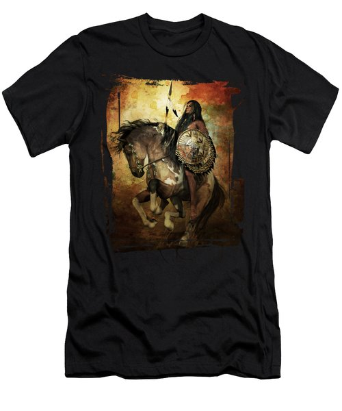 Warrior Men's T-Shirt (Slim Fit) by Shanina Conway