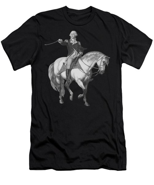 Washington Receiving A Salute At Trenton Men's T-Shirt (Slim Fit) by War Is Hell Store