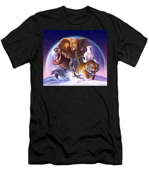 Wild World Men's T-Shirt (Slim Fit) by Jerry LoFaro