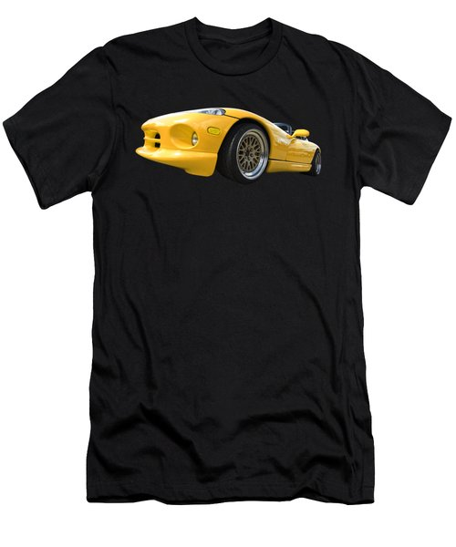 Yellow Viper Rt10 Men's T-Shirt (Slim Fit) by Gill Billington