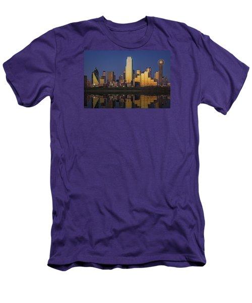 Dallas At Dusk Men's T-Shirt (Slim Fit) by Rick Berk