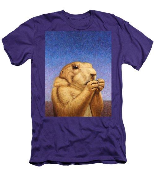 Prairie Dog Men's T-Shirt (Slim Fit) by James W Johnson