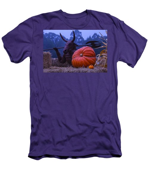Pumpkin And Minotaur Men's T-Shirt (Slim Fit) by Garry Gay