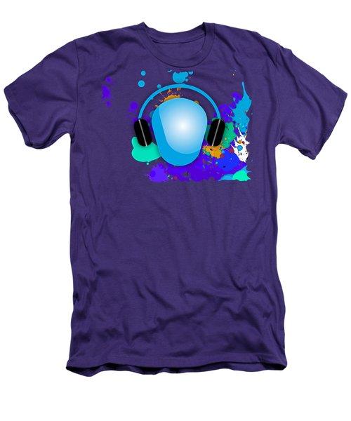 Music Men's T-Shirt (Slim Fit) by Marvin Blaine