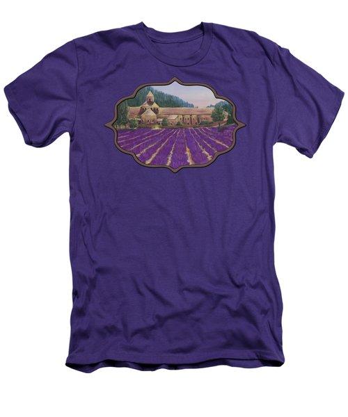 Abbaye Notre-dame De Senanque Men's T-Shirt (Slim Fit) by Anastasiya Malakhova