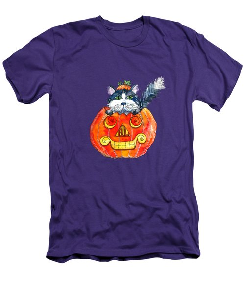 Boo Men's T-Shirt (Slim Fit) by Shelley Wallace Ylst