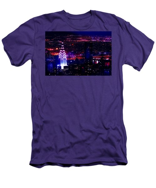 Beautiful Manhattan Skyline Men's T-Shirt (Slim Fit) by Az Jackson