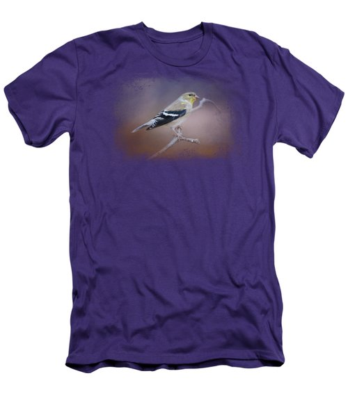 Goldfinch In The Light Men's T-Shirt (Slim Fit) by Jai Johnson
