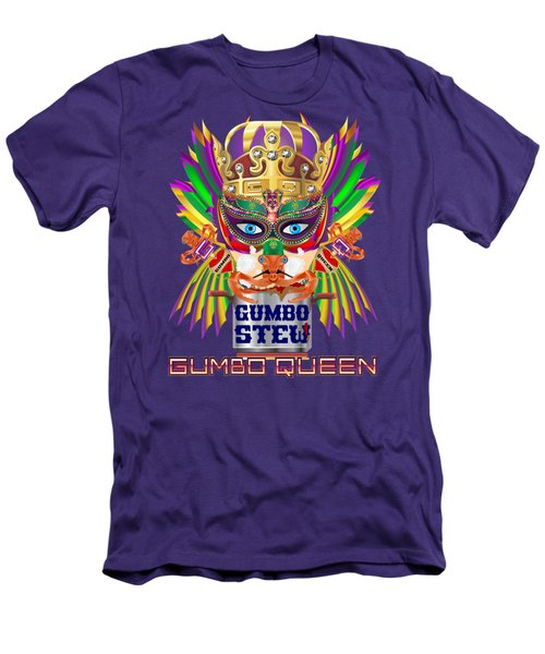 Gumbo Queen 1 All Products  Men's T-Shirt (Slim Fit) by Bill Campitelle