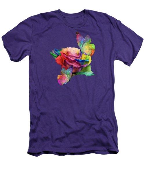 Healing Rose Men's T-Shirt (Slim Fit) by Carol Cavalaris