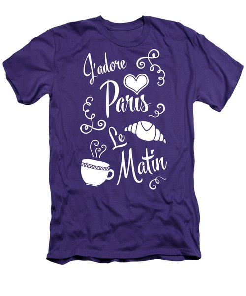 I Love Paris In The Morning Men's T-Shirt (Slim Fit) by Antique Images