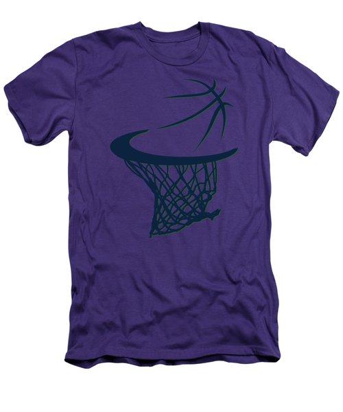 Jazz Basketball Hoop Men's T-Shirt (Slim Fit) by Joe Hamilton