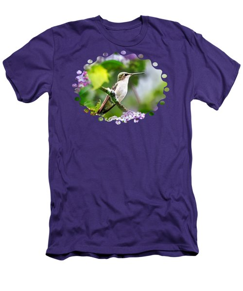 Ruby-throated Hummingbird-1 Men's T-Shirt (Slim Fit) by Christina Rollo