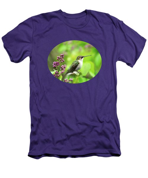 Spring Beauty Ruby Throat Hummingbird Men's T-Shirt (Slim Fit) by Christina Rollo