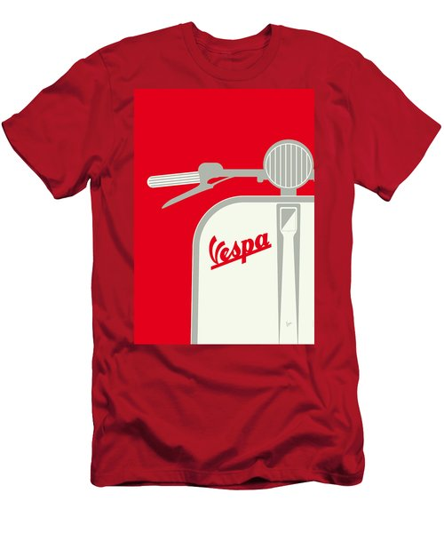 My Vespa - From Italy With Love - Red Men's T-Shirt (Slim Fit) by Chungkong Art