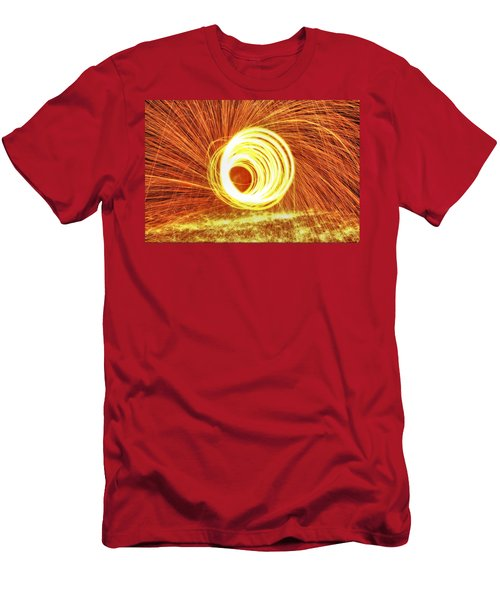 Shooting Sparks Men's T-Shirt (Slim Fit) by Dan Sproul