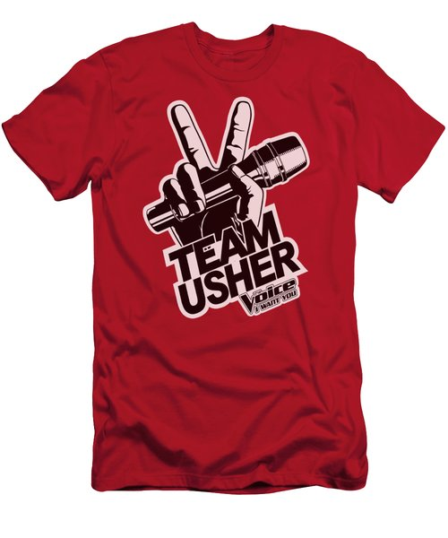 The Voice - Usher Logo Men's T-Shirt (Slim Fit) by Brand A