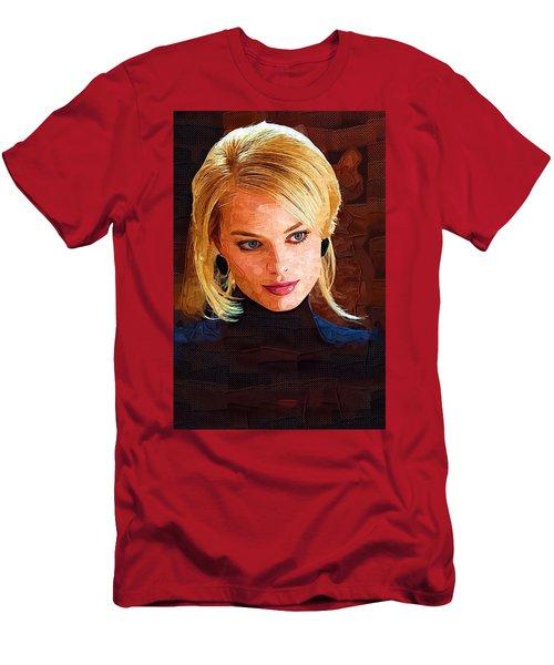 Margot Robbie Painting Men's T-Shirt (Slim Fit) by Best Actors