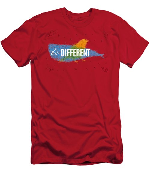 Be Different Men's T-Shirt (Slim Fit) by Aloke Design