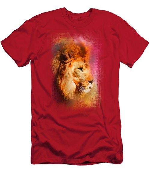 Colorful Expressions Lion Men's T-Shirt (Slim Fit) by Jai Johnson